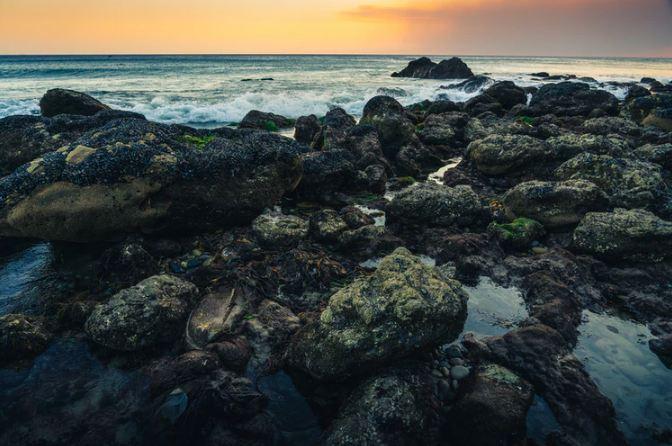 rocks on El Matador Beach